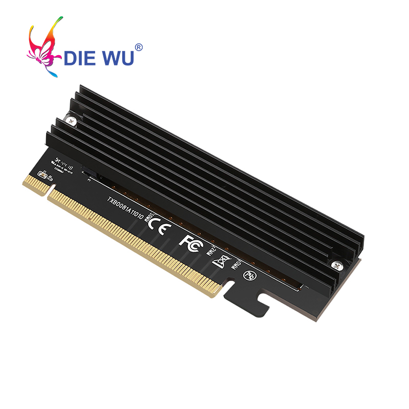 PCIE X16 To M.2 M Key NVMe SSD Ethernet Adapter M-Key Interface Expansion Card High Speed