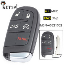 KEYECU 433MHz ID46 Chip M3N-40821302 Replacement 4+1 5 Button Smart Remote Key Fob for Chrysler Dodge Charger Journey Challenge