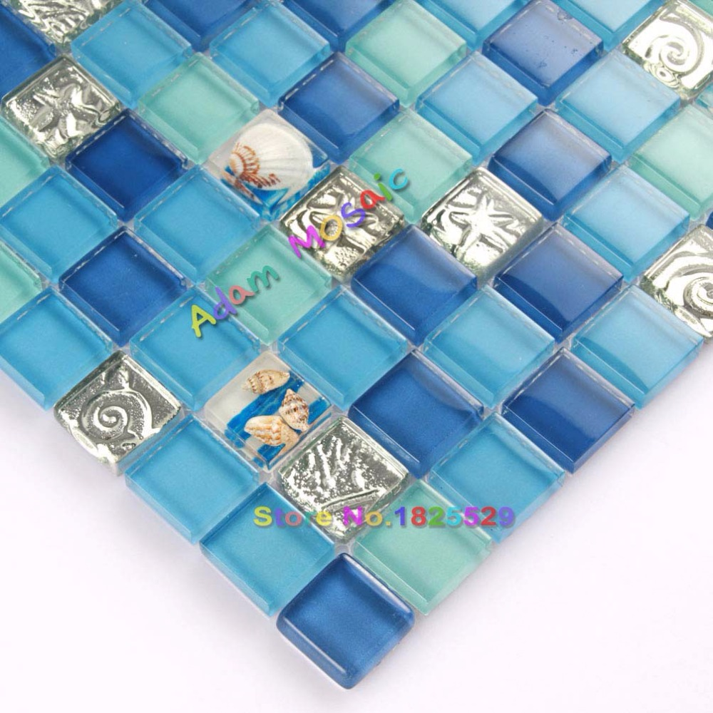 Aliexpress.com : Buy Ocean Blue Resin Tiles Green Bathroom wall ...