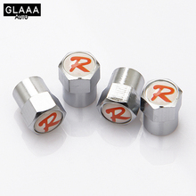GLAAAAuto 4Pcs/Lot Stylish Universal For Red R Valve Caps Car Wheel Valve Caps car styling There are many options