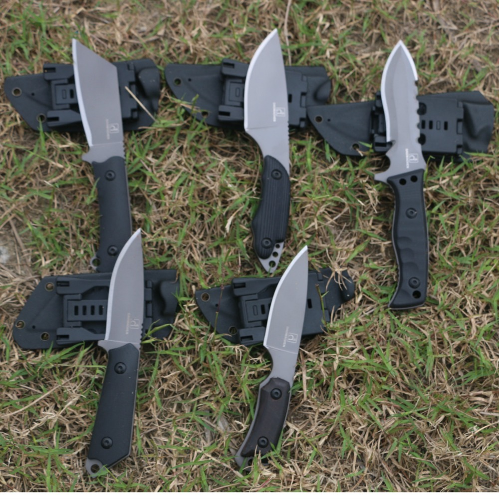 5 PIC New Fixed Blade Knife Outdoor Tactical Knife Survival Camping Tools Collection Hunting Knives With Imported K sheath