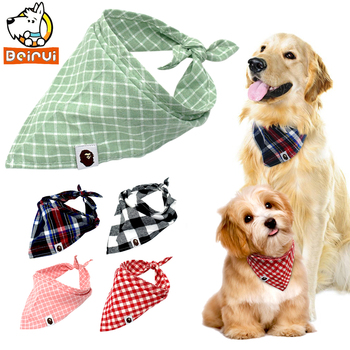 5pcs Dog Bandana Plaid Scarf Bow ties Collar
