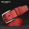 western style 100% genuine leather vintage men belt fashion luxury pin buckle with wide leather strap design belt men Z010