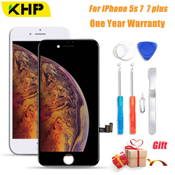 2018 KHP AAAA No Dead Pixel LCD Screen For iPhone 5s 7 7Plus LCD Display Digitizer 3D Touch Module Replacement Screen LCDS
