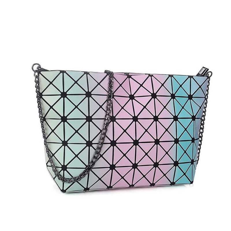 buy hot popular women bag designer handbags high quality hologram fold baobao bag rainbow color bao bao clutch sac a main bags from