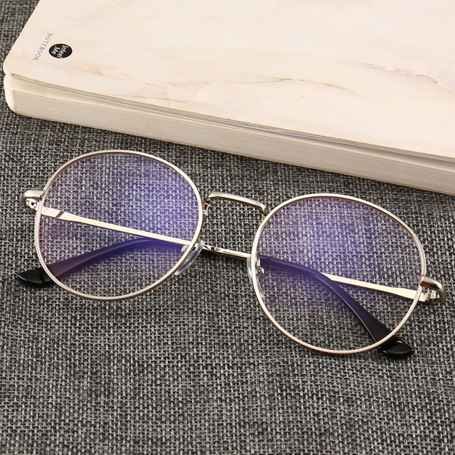 Fashion Blue Light briller Retro Metal