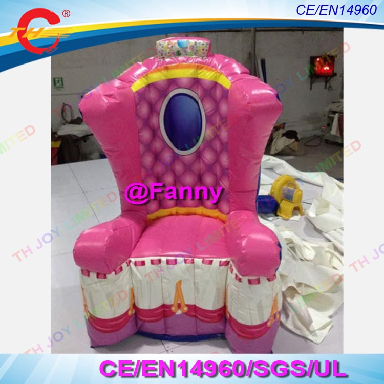 Inflatable Kids Birthday Chair: Free Shipping New King Throne Inflatable Chair/inflatable