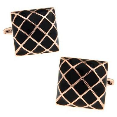 C-MAN Luxury Shirt Cufflink For Mens Gold Grid Brand Cuff Buttons Cuff Links High Quality Silvery Abotoaduras Jewelry