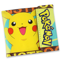Japanese Cartoon Anime Wallet Best Wishes Lovely Pikachu Pokemon/Doctor WHO/My Little Pony/Sailor Moon Short Student Gift Purse Kids Wallets