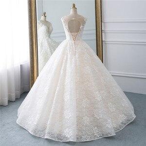 Image 3 - Fansmile Vestidos de Novia Vintage, novedad del 2020 en Vestidos de gala de tul, vestido de boda de princesa de encaje de calidad, vestido de Novia de boda FSM 522F