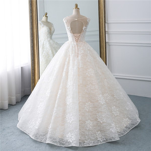 Image 3 - Fansmile yeni Vestidos de Novia Vintage balo tül gelinlik 2020 prenses kalite dantel düğün gelinlik FSM 522F