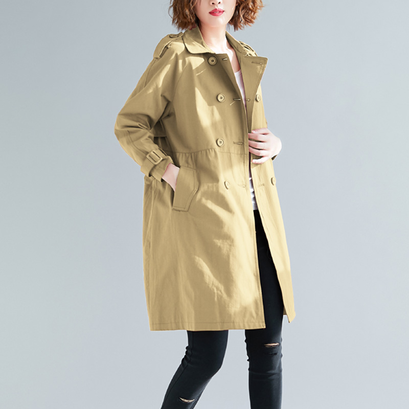 Fashion Women Windbreakers 2019 Spring Autumn new Korean Women Long Red   Trench   Coat Casual Loose Plus size Ladies Outerwear 4XL