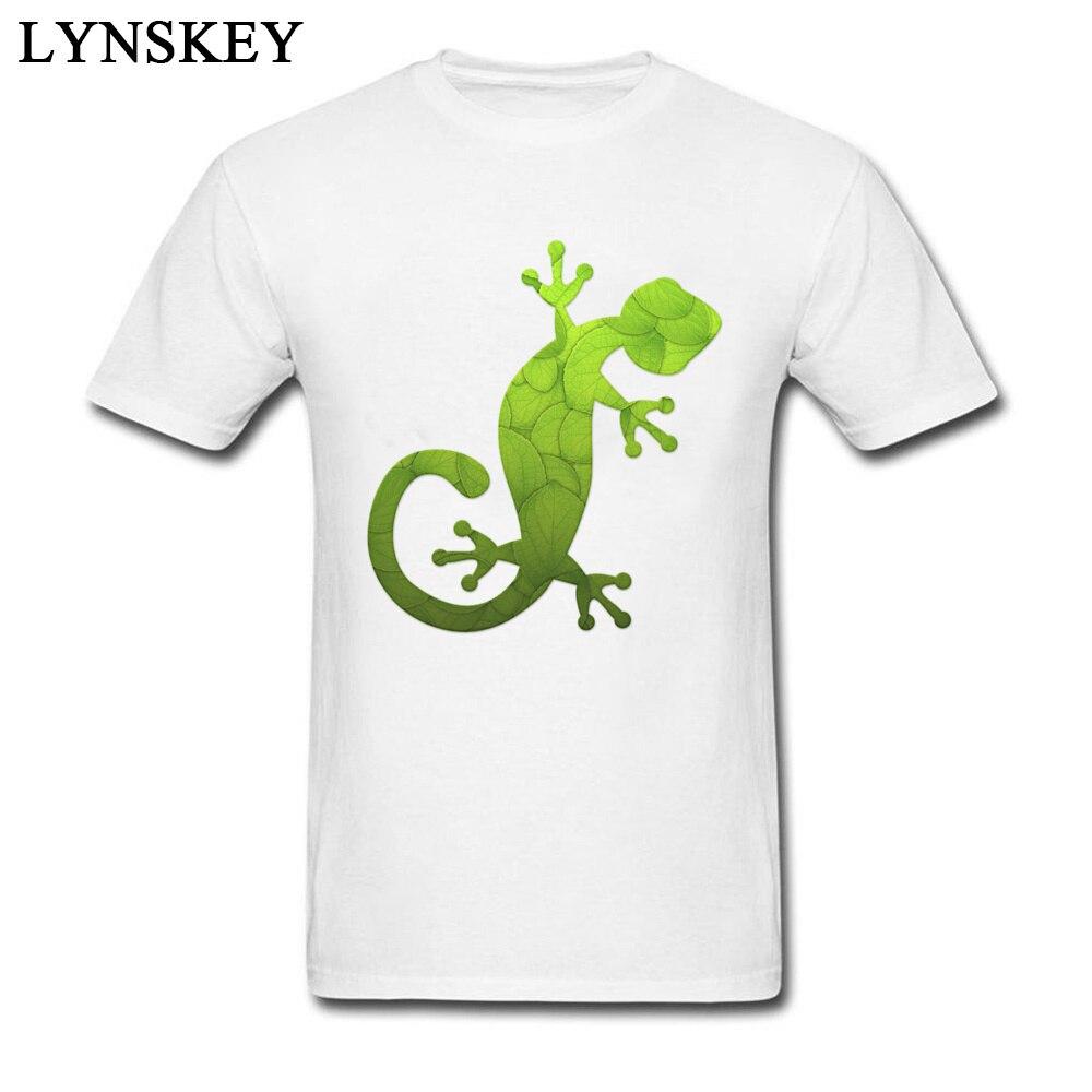 2b06d275c Mint Eco Gecko Fresh Design Men's Tops & Tees Pure Cotton T Shirts O-neck