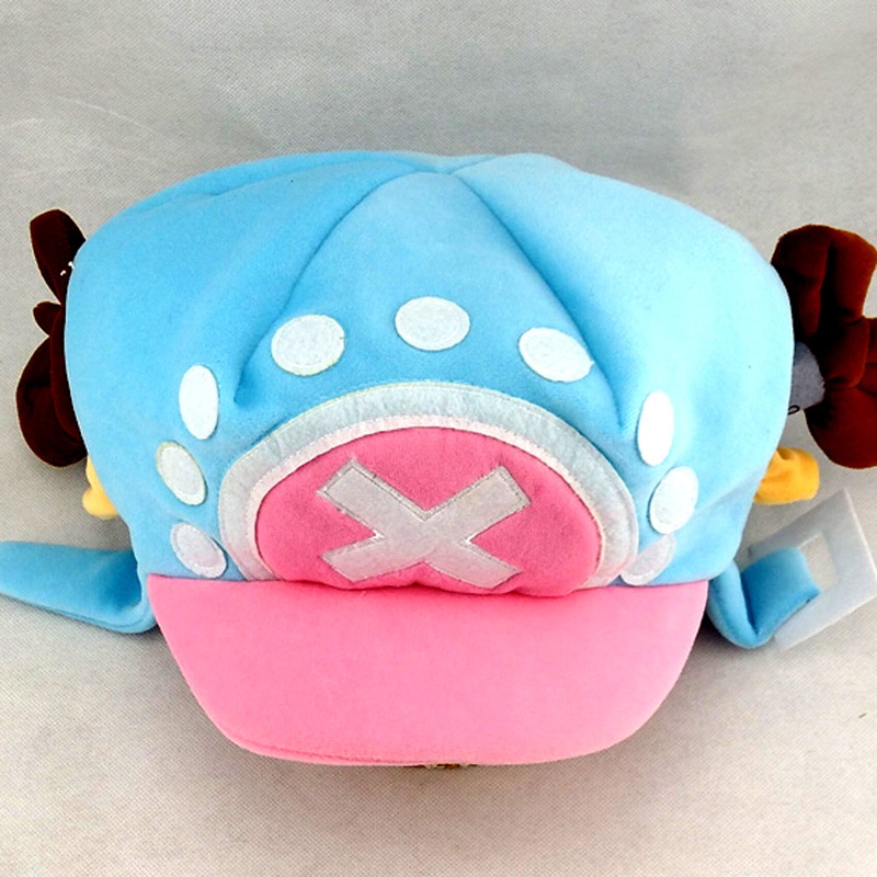 Hot sale Cute Cartoon Animal hats One Piece Chopper plush cosplay hat after 2 years Blue pink Plush Soft caps Earmuff tina bregant perinatal hypoxic ischaemic encephalopathy twenty years after