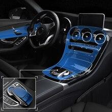 Для Mercedes Benz C Class C200 подкладке невидимую защитную пленку центральной консоли Управление Панель ТПУ наклейки автомобиль-Стайлинг