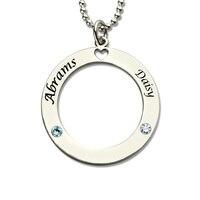 Các Mối bán buôn Tên Necklace Personalized Các Cặp Vợ Chồng Vòng Cổ với Birthstones Bạc Tên Nơi Pendant Thể Hiện Tình Yêu Quà Tặng Trái Tim