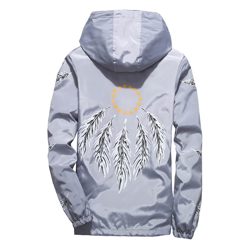 Feather WindJacket Summer Thin Lightweight Jackets Men Jackets Jackets and Coats Jaqueta Masculino Designer Coat 50JK063(China)