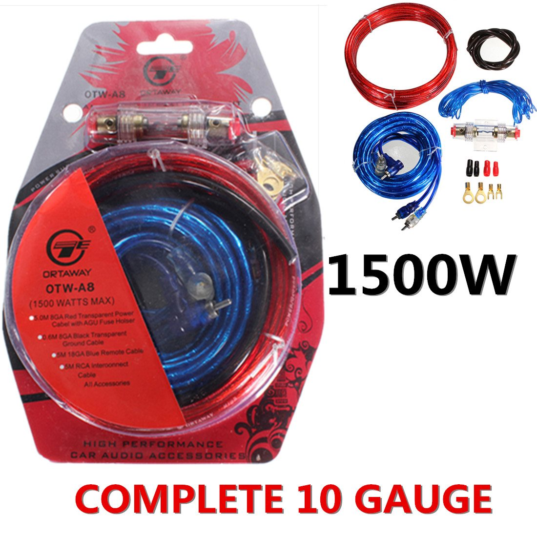 Universal Car Auto Complete Amplifier Wiring Kit Gauge for Speakers Subwoofers