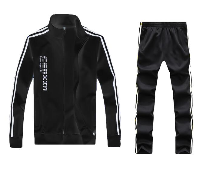 Men Full Outdoor Gym TrackSuit Sport Jacket Coat Bottom Top Suit Trousers Pants Track Suit Outfit 5 Colors