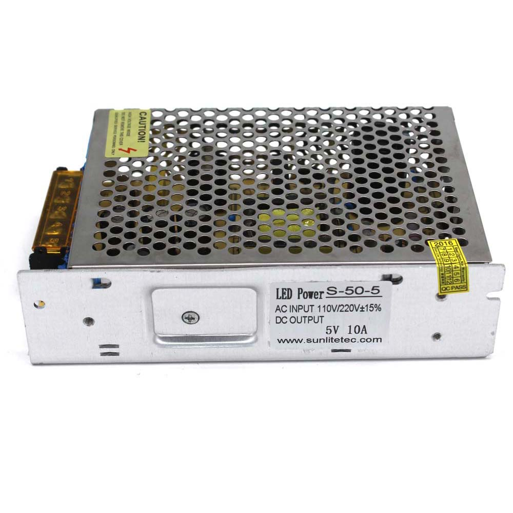 50W 5V 10A Single Output Switching power supply for LED Strip light