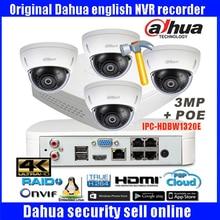 Original dahua P2P CCTV Camera System 4K H.265 NVR4104-P-4ks Outdoor HD Infrared Security Camera  Home Network IP Camera System