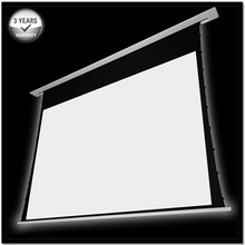 """92"""" 16:9 4K Recessed In-ceiling Electric Tab tensioned Projection Projector Screen with aluminum casing/ multi controls"""