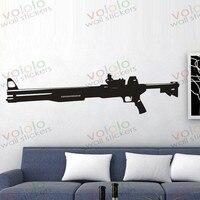 משלוח חינם חומר סיטונאי וקמעוני וול דקור pvc מדבקות קיר מדבקות טפט ציור קיר נשק אקדח s-151