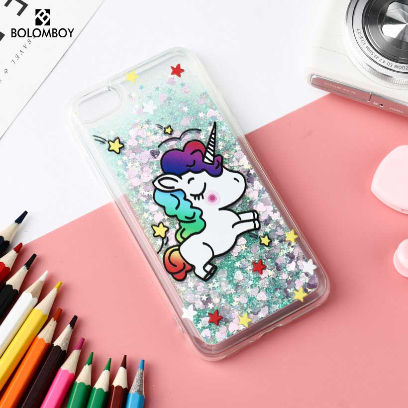 Bolomboy Glitter Star Liquid Quicksand Case For Iphone 7 Case Silicone Cute Unicorn For Iphone 6 Cover For Iphone 5 6S X 10 Plus
