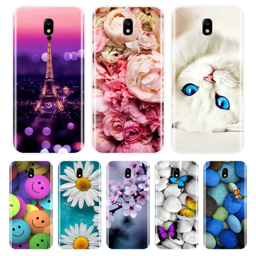 Phone Case For Samsung Galaxy J3 J4 J5 J6 J7 2016 2017 Soft Silicone Cute Cat Painted Back Cover For Samsung J2 J5 J7 Prime Case