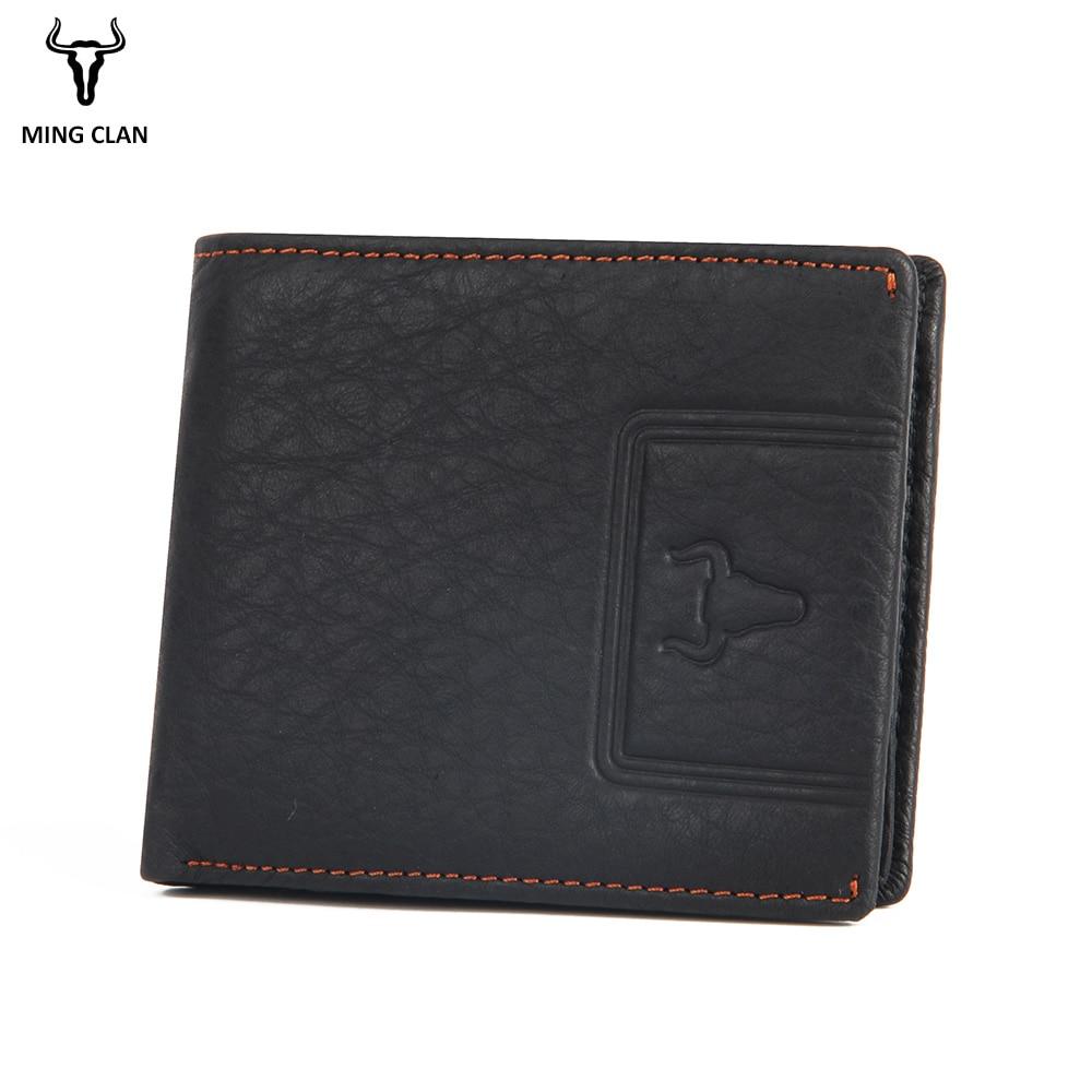 Mingclan Men Short Wallets Male Purses Slim Men's Wallet Carteira Famous Brand Male Man Canvas Solid Thin Purses Photo Holder