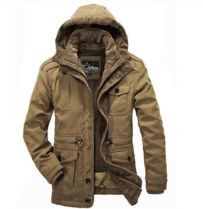Outdoor -30 Degree Winter Coat Jackets New Plus Size Thick Coats Military Vintage Mens Clothing Two-piecs cotton hiking clothing