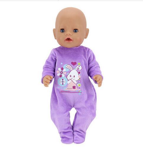 Warm Rabbit Jumpsuits  Wear For 43cm Zapf Baby Born Doll Clothes, Children Best Birthday Gift