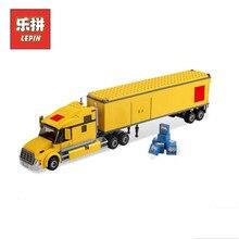 02036 город желтого кирпича грузовых перевозок 298 шт. Legoing город строительные блоки игрушки для детей Legoingly 3221 Лепин