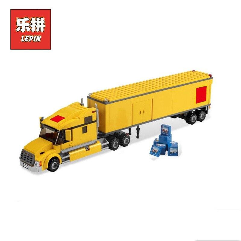 02036 ciudad amarillo ladrillos camión de transporte 298 piezas Legoing ciudad bloques de construcción juguetes para niños Legoingly 3221 Lepin