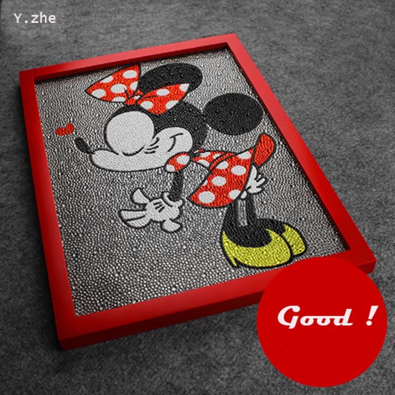 Gyémánt festés Minnie Mouse Lovely Diy 5D gyémánt festés Minnie egér teljes hímzés Diamond strasszos 30 * 40cm festés