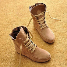 Women's Winter Boots Ankle Boots for Women Shoes Female Autumn Martin Boots Suede Leather Snow Boots Lace Up Women Winter Shoes
