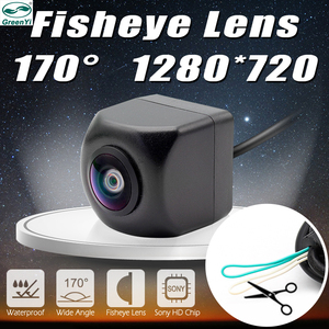 Image 1 - GreenYi cámara de visión frontal y lateral trasera para vehículo, CCD, Ojos de pez, visión nocturna, impermeable, IP68, cámara trasera Universal