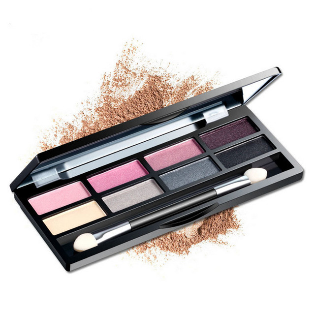 Professional 8 Color Eye Shadow Set Fine Shining Long Lasting Beauty Makeup Set Waterproof Female Makeup Products With Mirror