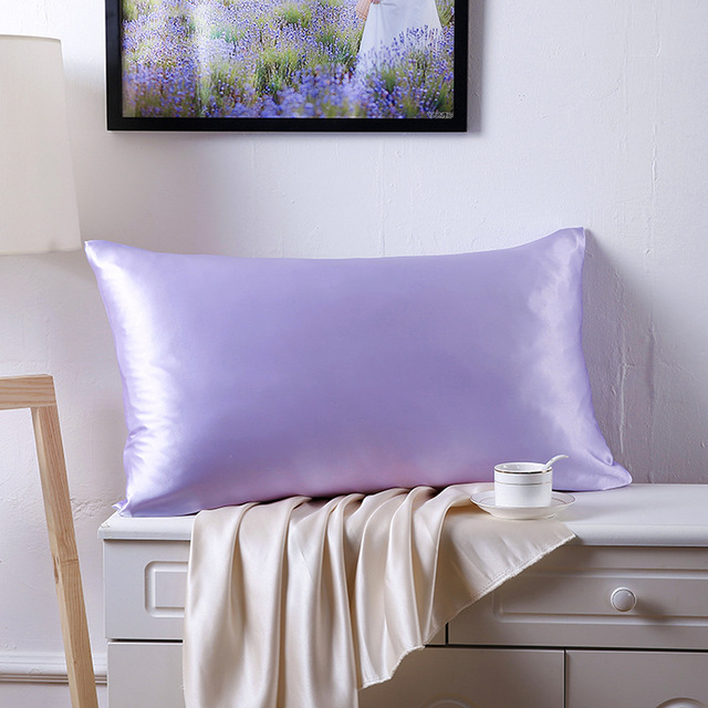 100% Mulberry Silk Single Pillowcase Charmeuse Satin Pillow Cover With Zipper,1pc