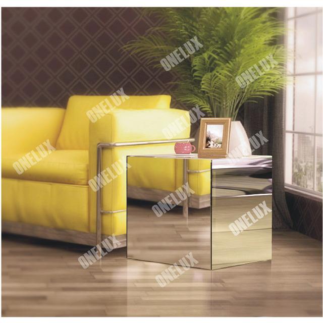 $ Number caras Arte Decoración de Acrílico Espejo Lateral/end/sofá/esquina/Mesa auxiliar, Lucita Mesas de Té de Café, Mesitas de Noche Espejo de plexiglás