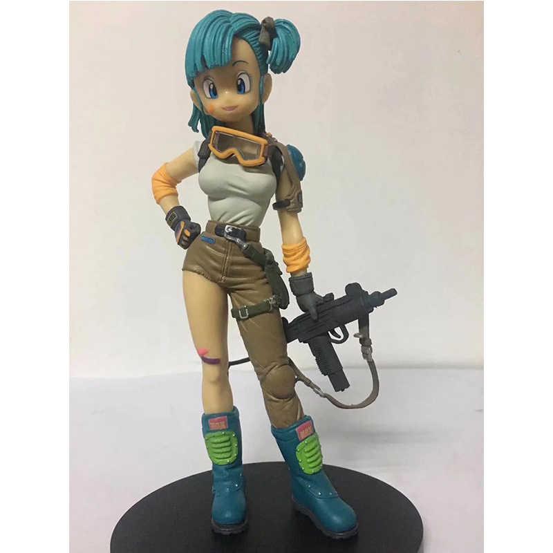 NOVA 22 cm Bola Dragão Jovem Ver. Bulma Figura de Ação escala 1/8 Cabelo Azul & Roxo Cabelo Buruma PVC Brinquedos figura Brinquedos Anime