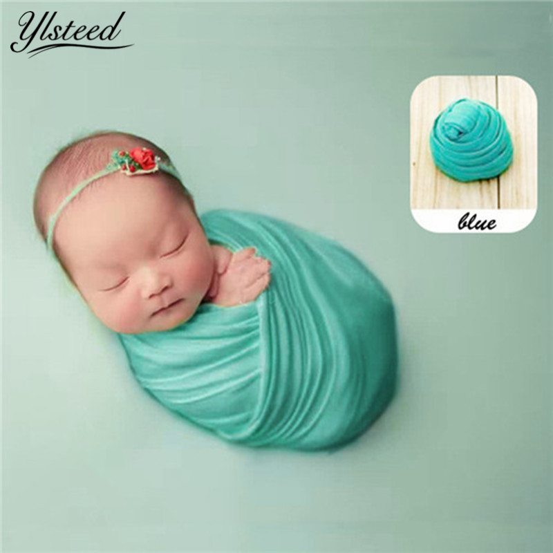 50*180cm Stretch Cotton Baby Blanket Newborn Photo Props Photography Wraps Swaddle Muslin Wraps Infant Photography Props