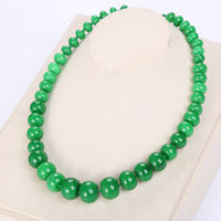 Jasper Women Green Crystal Necklace Charm Chain Vintage Fashion Vintage Green Jade Jewelry Chalcedony Agate Pendant Necklace New