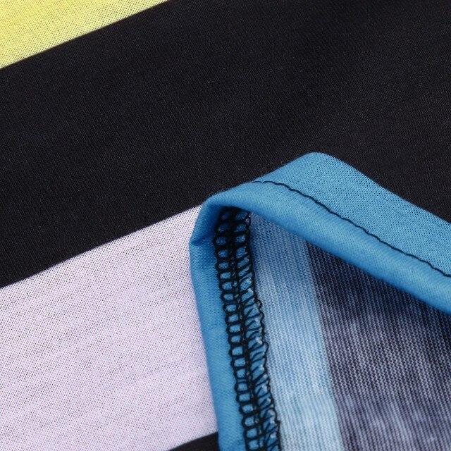 Long Sleeve Stripe Print T Shirt  5