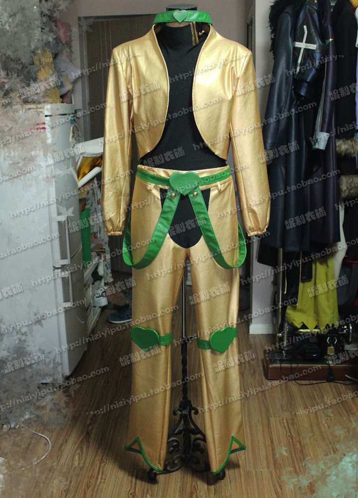 Customized JoJo's Bizarre Adventure movie Dio Brando Cosplay Costume yellow full set