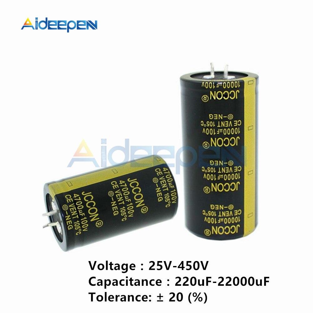 25V 35V 50V 63V 80V 200V 250V 450V Aluminum Electrolytic Capacitor 220uF-10000uF Diy Tool