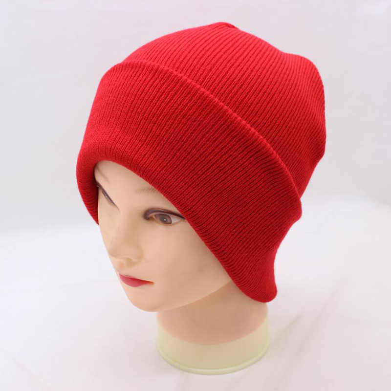 92790a7b46e ... 2018 New Winter Hats Unisex Women s Cotton Solid Warm Hot Sale HIP HOP  Knitted Hat Female ...