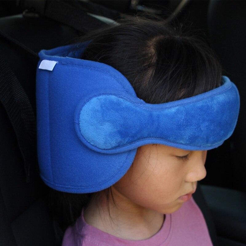 Asiento de coche de seguridad cabeza apoyo almohada cuello cochecito suave almohada de viaje Correa S7JN