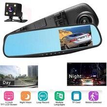 цена на Manzeo DVR Dash Camera car Rear View Camera 1080P Dual lens DVR Mirror Recorder Dash Cam Car DVR Rearview Mirror Video Recorder
