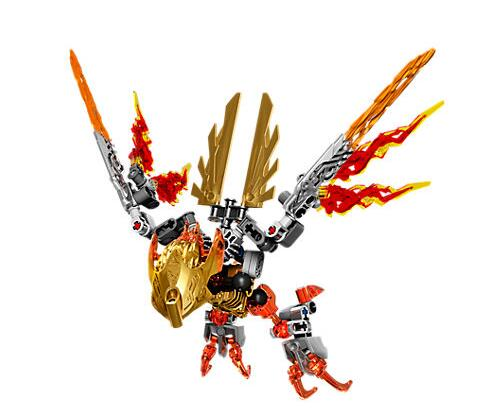 XSZ 609-4 Biochemical Warrior Bionicle Ikir Creature of Fire Bricks Toy Building Blocks Compatible with Legoings 71303 Toys